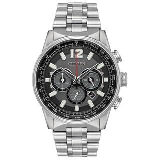 Citizen Men's Silvertone Stainless Steel Eco-Drive Watch