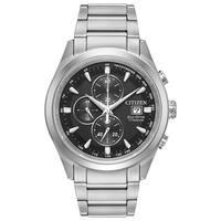 Citizen Men's Titanium Black Dial Eco-Drive Watch