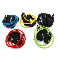 Five Colors Resistance Bands Fitness Pull Strap (Yellow + Green + Blue + Red + Black)