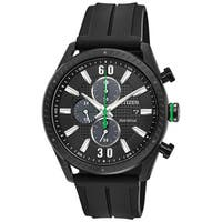 Citizen Men's DRIVE Polyurethane Black Dial Eco-Drive Watch