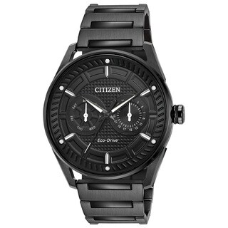 Citizen Men's DRIVE Stainless Steel Black Dial Eco-Drive Watch