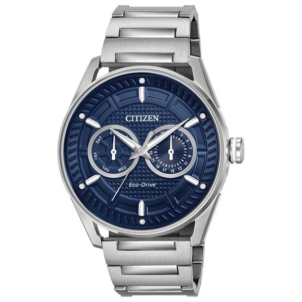 0d74ea09620 Shop Citizen Men s DRIVE Stainless Steel Blue Dial Eco-Drive Watch ...