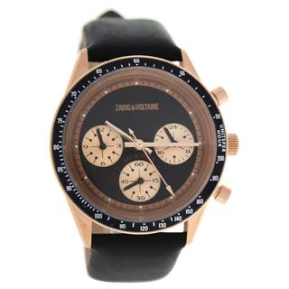 Zadig & Voltaire ZVM114 Master - Rose Gold/Black Leather Strap Wactch|https://ak1.ostkcdn.com/images/products/16496700/P22835644.jpg?impolicy=medium