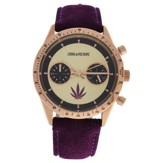 Zadig & Voltaire ZVM110 Master - Rose Gold/Violet Leather Strap Watch|https://ak1.ostkcdn.com/images/products/16496702/P22835645.jpg?impolicy=medium