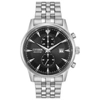 Citizen Men's Silver Stainless Steel Eco-Drive Watch