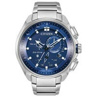 Citizen Men's Stainless Steel Blue Dial Eco-Drive Watch