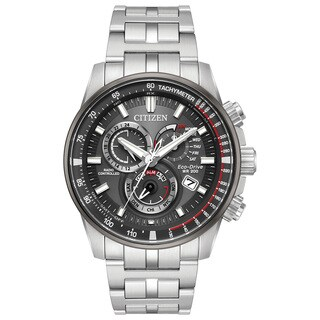 Citizen Men's Eco-Drive Grey Dial Stainless Steel Watch