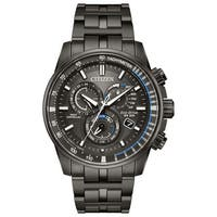 Citizen Men's Grey Stainless Steel Eco-Drive Watch