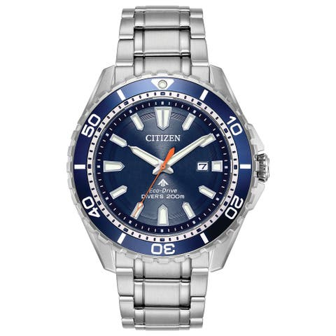 Citizen Men's Blue Stainless Steel Eco-Drive Watch