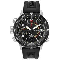 Citizen Men's Black Rubber Eco-Drive Watch