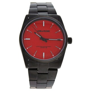 Zadig & Voltaire ZVF229 Red Dial/Black Stainless Steel Bracelet Watch