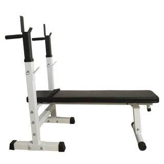 BS 222 Fitness Weight Bench White U0026 Black