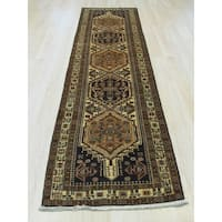 EORC Hand-knotted Beige Wool Traditional Oriental Sarab Rug (2'5 x 10')