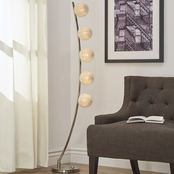 Triella Nickel Finish Floor Lamp by iNSPIRE Q Bold