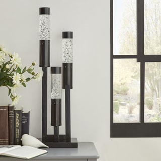 Bahira Sparkling Black Finish Table Lamp by iNSPIRE Q Bold
