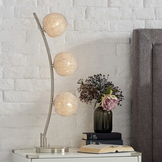 Triella Nickel Finish Table Lamp by iNSPIRE Q Bold
