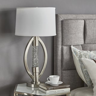 Ellipse Sparkling Nickel Finish Table Lamp by iNSPIRE Q Bold