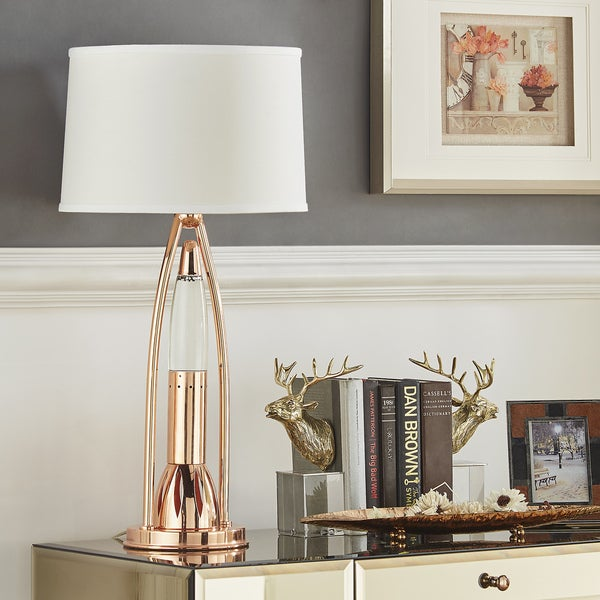 Roxie Sparkling Copper Finish Table Lamp by iNSPIRE Q Bold