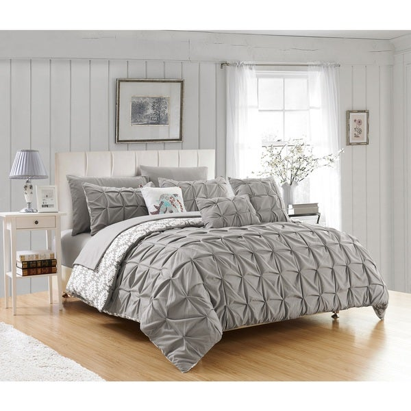 Chic Home Yabin Grey 10-piece Reversible Complete Bed In A Bag Comforter Set