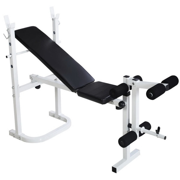 Shop N 008 Fitness Weight Bench White Amp Black Free
