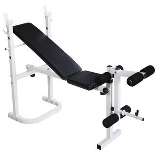 N-008 Fitness Weight Bench White & Black