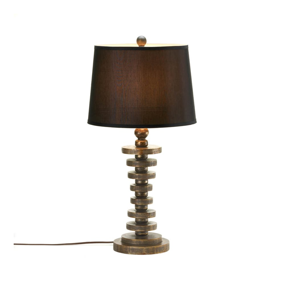 Koehler Home Decor Stratum Red Wood Table Lamp (Table Lam...