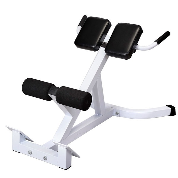 N-027 Back Hyperextension Bench Roman Chair White & Black