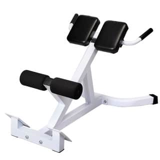 N-027 Back Hyperextension Bench Roman Chair White & Black