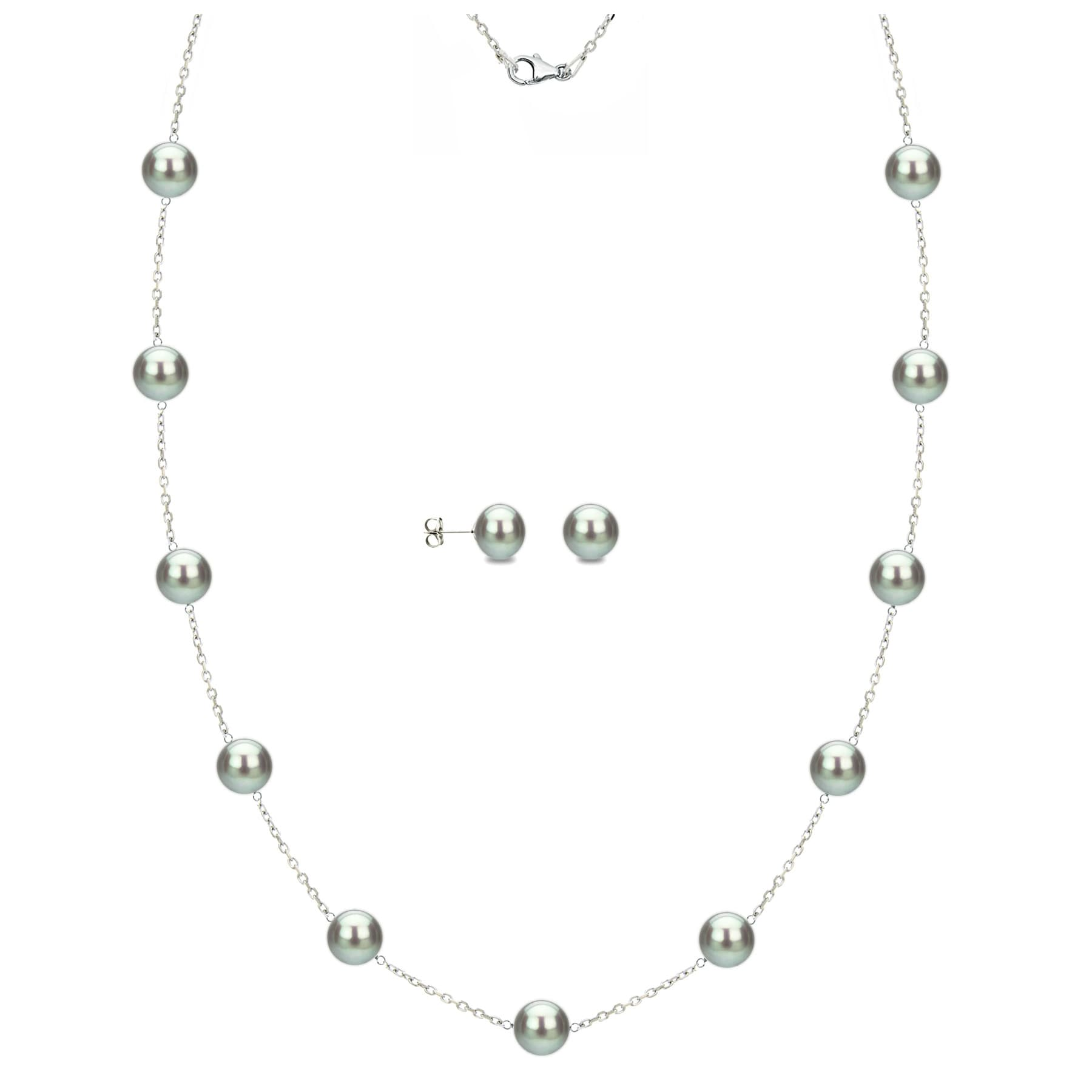 Jewelry Necklaces Pearls Sterling Silver Rhodium 4-5mm White FWC Pearl Necklace