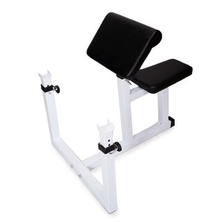 N-026 Fitness Preacher Curl Bench White & Black