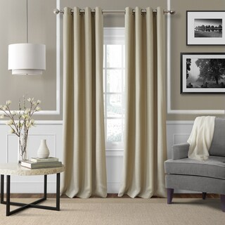 Elrene Essex Linen Blend Blackout Grommet Top Window Curtain Panel