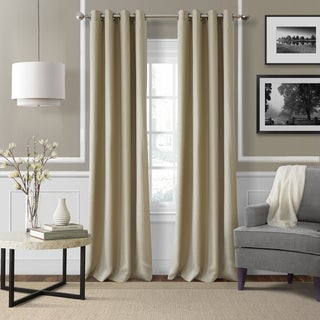 Elrene Essex Linen Blend Blackout Grommet Top Window Curtain Panel - N/A