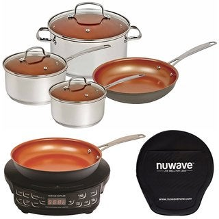 Nuwave Duralon Ceramic Non-Stick 7-Piece Cookware Set w/ 9 Inch Fry Pan
