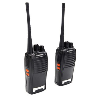 BF-777S 5W 400-470MHz 16-CH Handheld Walkie Talkie Black