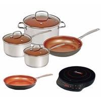 Nuwave Duralon Ceramic Non-Stick 7-Piece Cookware Set w/ Cook top & 10.5-inch Fry Pan