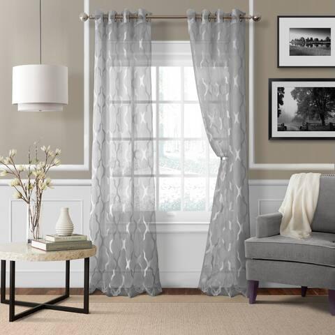 Elrene Sonata Sheer Curtain Panel