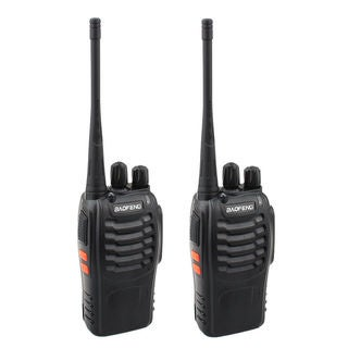 2pcs BF-888S 5W 400-470MHz 16-CH Handheld Walkie Talkies Black