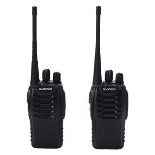 Baofeng BF-888S 5W 400-470MHz Handheld Walkie Talkie Black (2pcs/Pair)