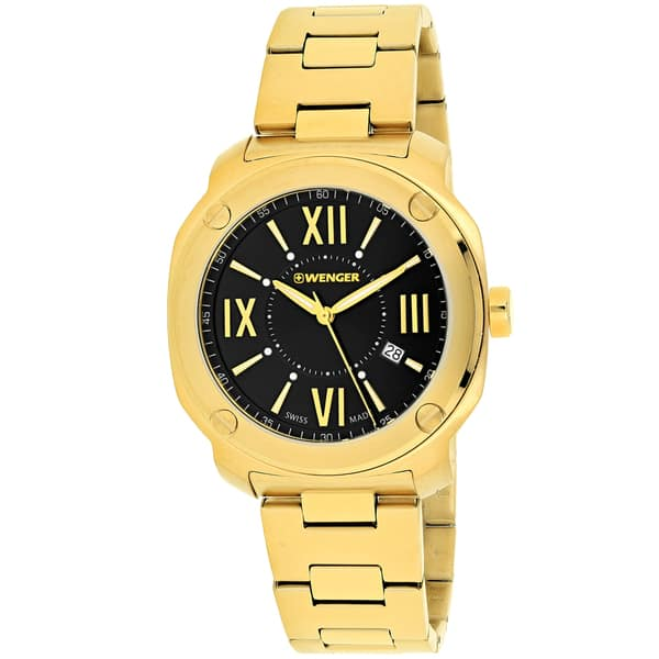 ef4a4d4ed27 Wenger Men s 01.1141.123  Edge Romans  Gold-Tone Stainless Steel Watch ...