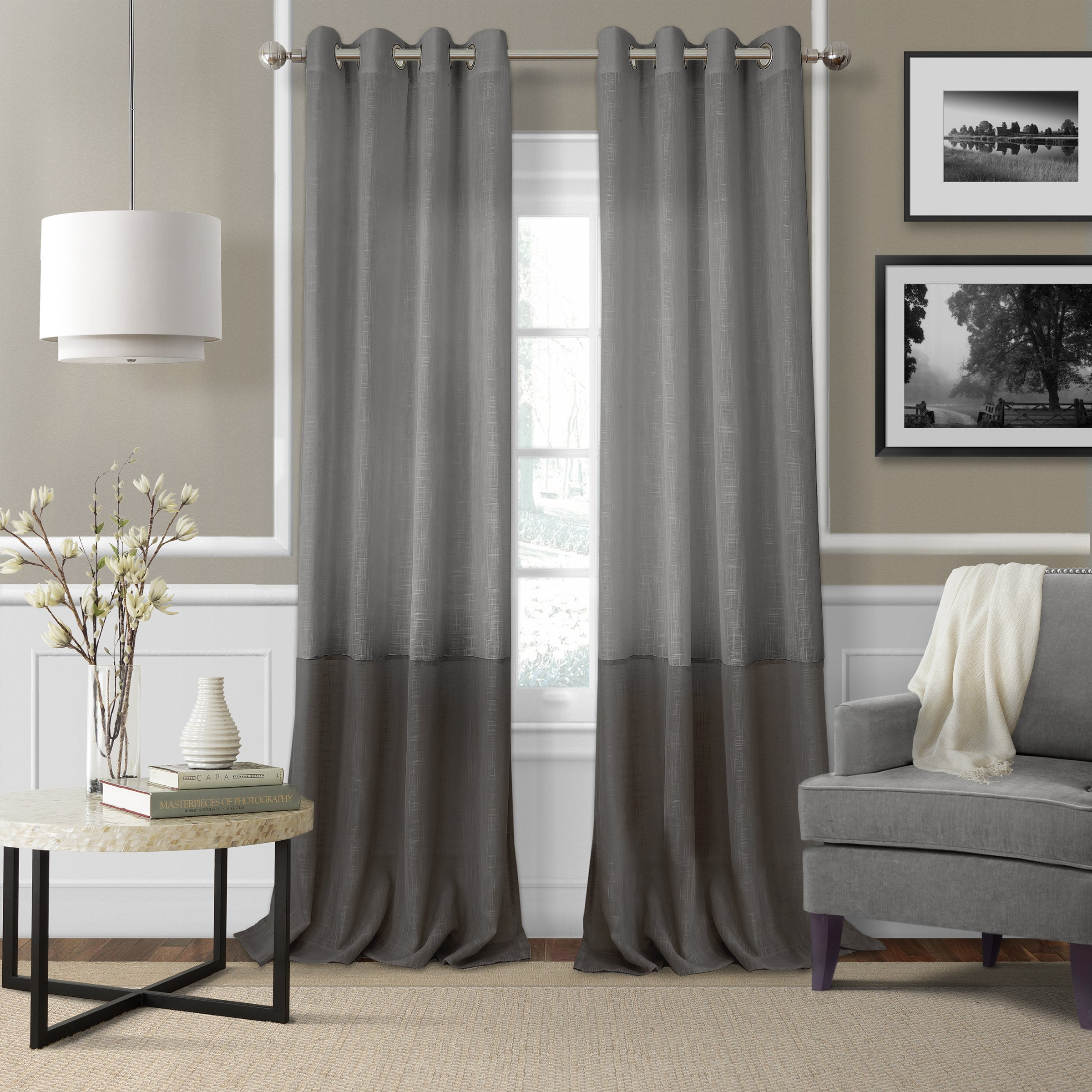 by panel curtain window itm grey eclipse blackout single