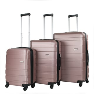 Amka Verano ABS Expandable Hard-sided 3-piece Spinner Luggage Set