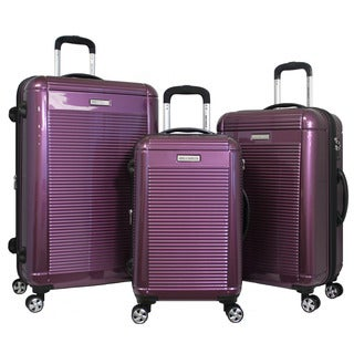 World Traveler Polycarbonate 3-piece Hardside Lightweight Spinner Rolling Luggage Set