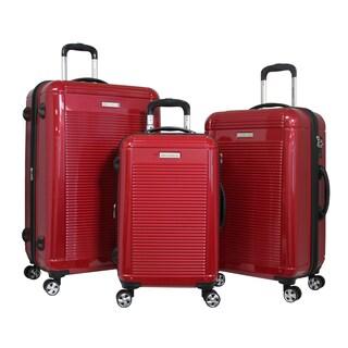 World Traveler 3-piece Hardside Lightweight Spinner Rolling Luggage Set