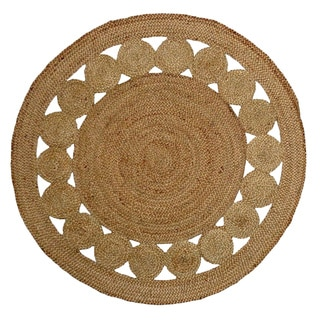 Celebration Reversible Jute Braid Dots Rug (8' Round)