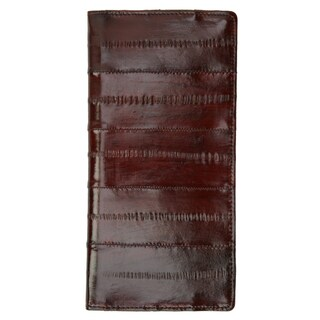 Genuine Embossed Eel Leather Basic Checkbook Cover (Option: Red)