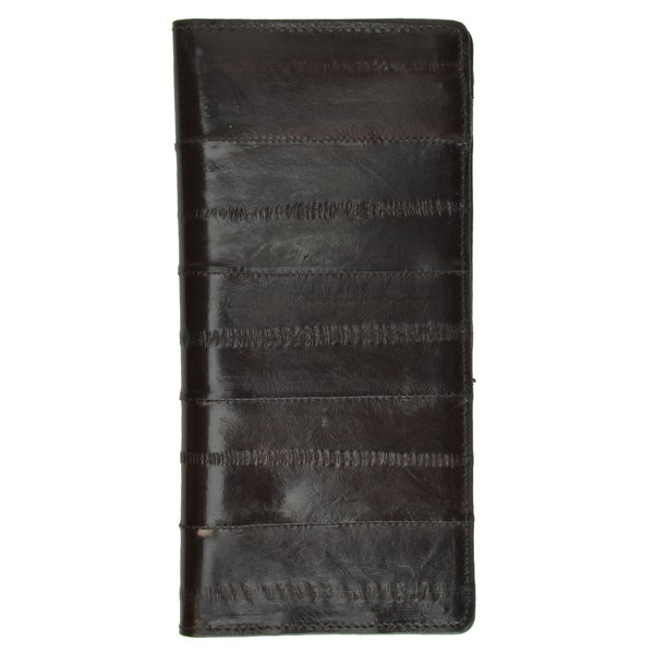 GENUINE EEL SKIN LEATHER CHECKBOOK COVER Wallet Personal Check Wallet