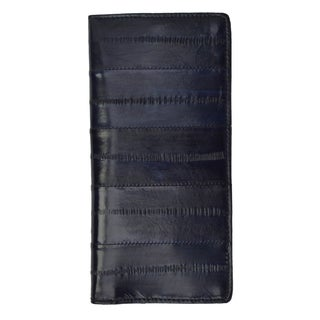 Genuine Embossed Eel Leather Basic Checkbook Cover