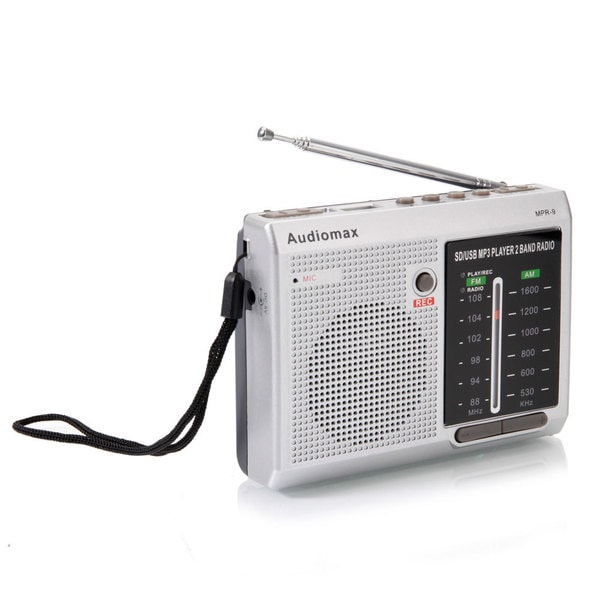MPR-9 6-Band FM/AM Portable Digital Radio Silver