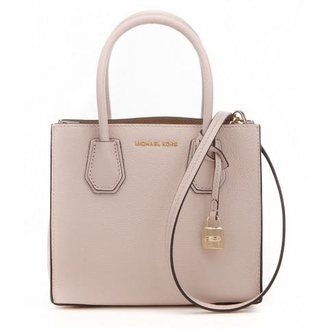 53088fa5e66a Michael Kors Kors Studio Mercer Soft Pink Leather Medium Satchel Handbag