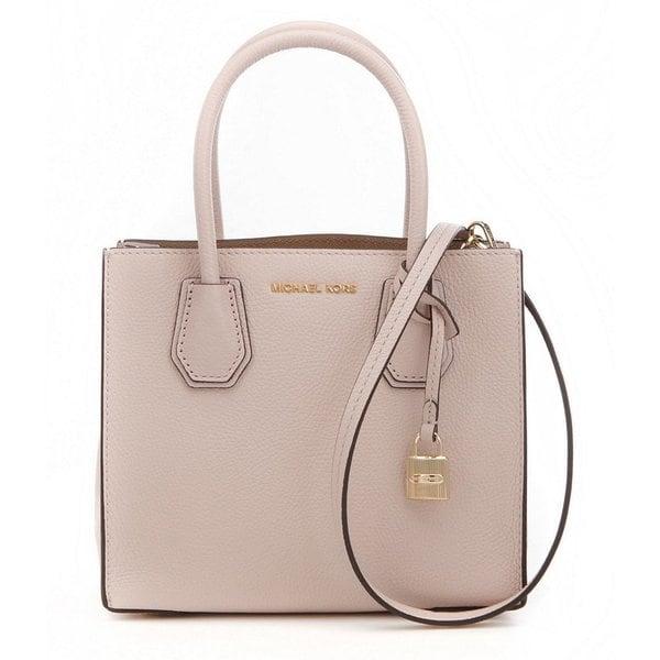 0d9f9bc0dbb9 Michael Kors Kors Studio Mercer Soft Pink Leather Medium Satchel Handbag